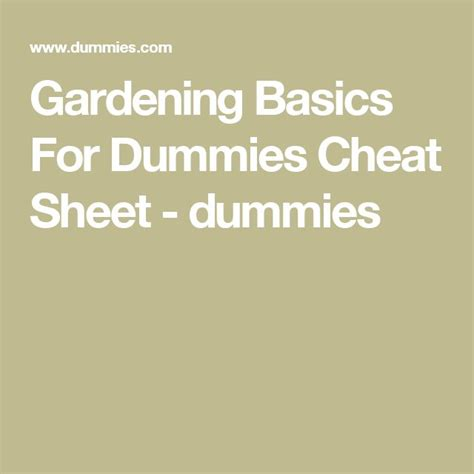 gardening basics for dummies 429 best images about creative tx ideas on pinterest therapy ideas group games and group