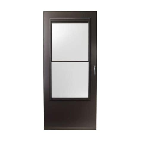 emco screen door emco 32 in x 80 in 200 series bronze self storing