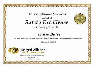 certificate templates safety award image collections With safety recognition certificate template