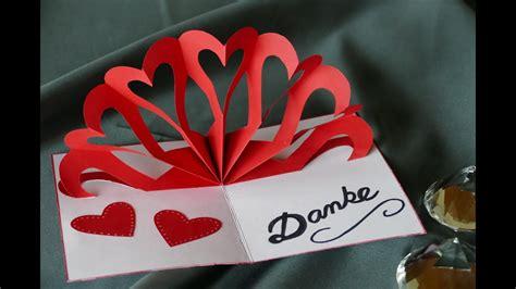 herz klappkarte heart pop  card muttertag