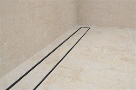 tile insert linear shower drains with 800mm flange