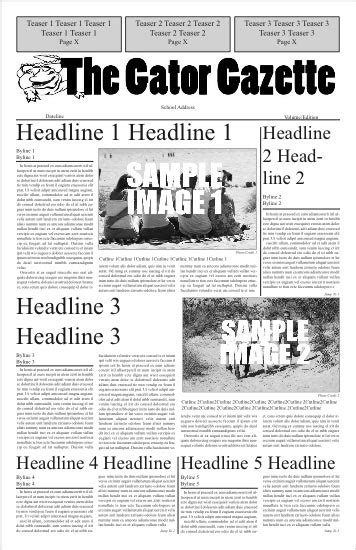 newspaper front page template newspaper design software free newspaper generator