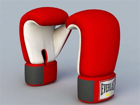 red boxing gloves  model autodesk fbxobject files