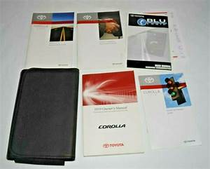 2010 Toyota Corolla Owners Manual Guide Book Set With Case