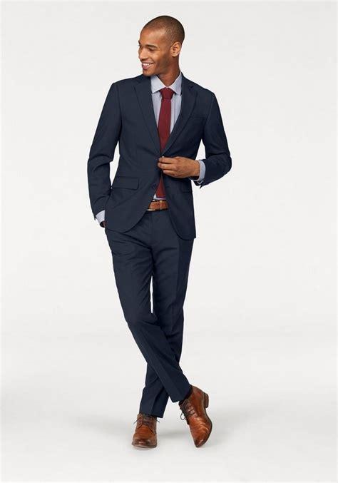 blauer anzug welche schuhe class international anzug mit elastananteil kaufen otto
