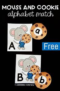 mouse and cookie printable alphabet matching game With cookie letters game
