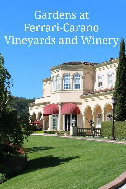 Последние твиты от ferraricarano winery (@ferraricarano). Gardens at Ferrari-Carano   Winery tasting room, Wine tasting course, Wine drinks