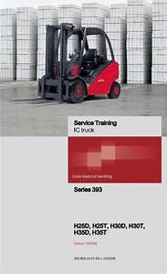 Linde Forklift Truck 393 Series H25 H30 H35 Service Training And Schematic Diagrams