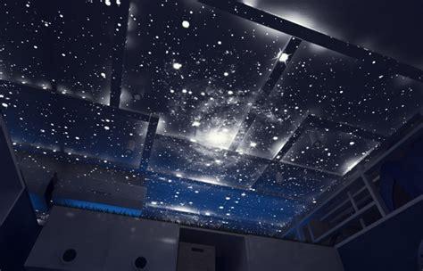 faux plafond chambre chambre pour enfant sur le thème de l 39 espace