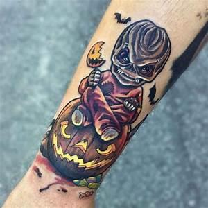 Halloween Tattoo New School on Arm | Best Tattoo Ideas Gallery