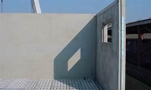 Mur En Béton : murs isol s ou panneaux sandwich maison bleue pr fabrication b ton ~ Melissatoandfro.com Idées de Décoration