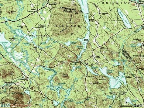 Denmark Topographic Map.Topographic Map Denmark Maine