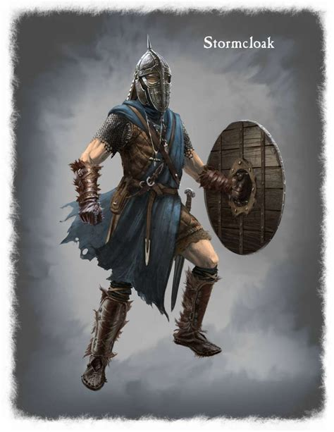 Concept Art Of Stormcloack Armor From The Elder Scrolls V