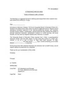 School Attendance Letter Sample