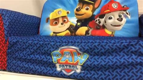 paw patrol sofa bed paw patrol bed couch backpack sofa furniture youtube