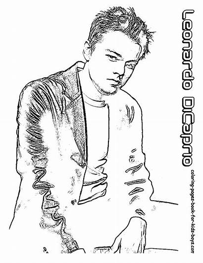 Coloring Hollywood Dicaprio Leonardo Actor Pages Stars