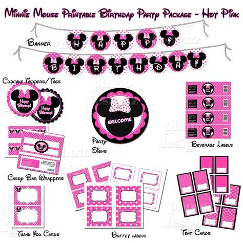Minnie Mouse Party Printables  Joy Studio Design Gallery  Best Design