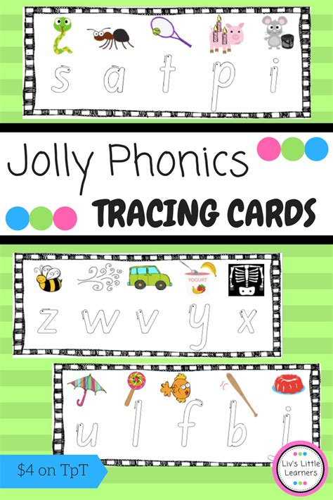 jolly phonics letter tracing pictures match  songs