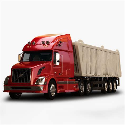 volvo trailer truck volvo vnl670 trailer truck 3d model max obj 3ds fbx mtl