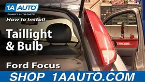 How To Replace Taillight  U0026 Bulbs 00-04 Ford Focus