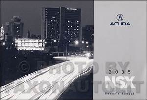 2005 Acura Nsx Owners Manual Original Oem Owner Guide Book