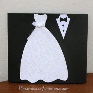 dress  tux trifold wedding card allfreepapercraftscom
