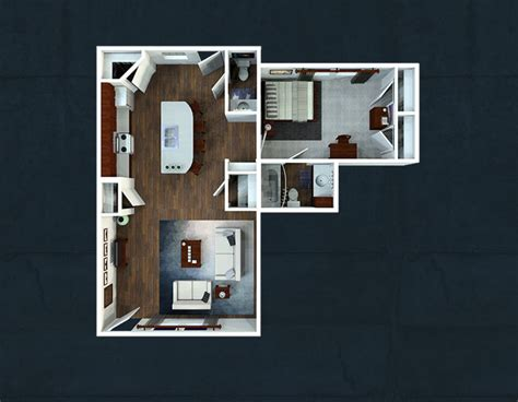 one bedroom floorplans the avenue at lubbock