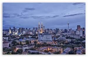 Kuala Lumpur Malaysia City In The Evening 4K HD Desktop ...