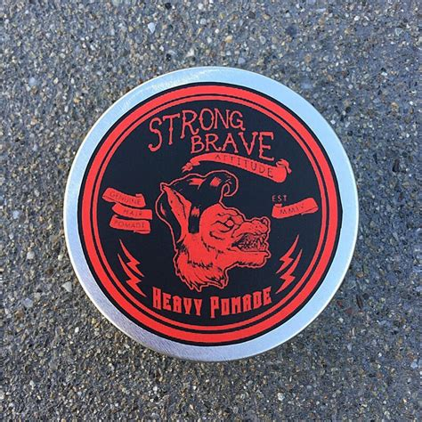 strong brave attitude heavy hold pomade hedgelion