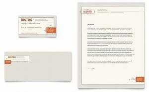 restaurant letterhead templates free - bistro bar business card letterhead template design