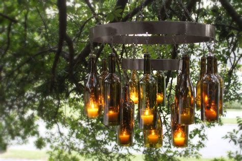 wine rack unique chandeliers made out of recycled wine bottles