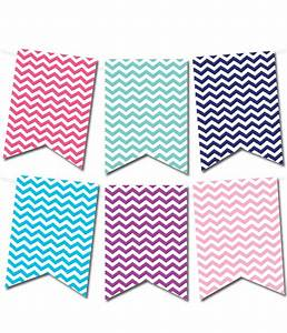 free printable chevron pennant banner from With pennant banner with letters
