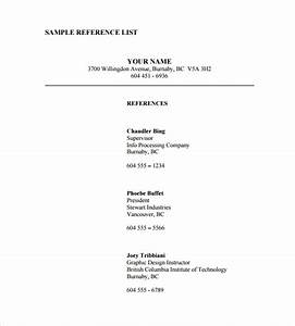 sample reference list template 5 free documents With providing a reference template