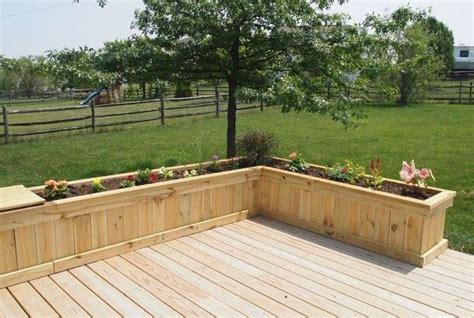 build  deck planters  patio  mosquito