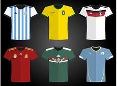 World Cup 2014 Vector Logo, Mascot, Teams Jersey