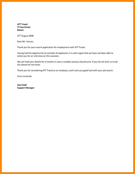 sample letter  rejecting  job offer resume samples