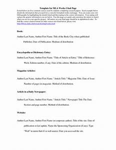 best photos of bibliography template mla format With work cited mla format template