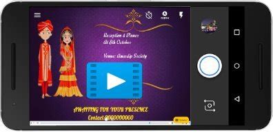 indian invitation cards video maker