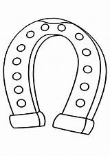 Horseshoe Coloring Pages sketch template