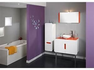 Salle De Bain Orange : le meuble colonne de salle de bain ~ Preciouscoupons.com Idées de Décoration