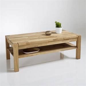 Table Basse Hauteur 60 Cm : table basse ch ne huil adelita ch ne la redoute ~ Dailycaller-alerts.com Idées de Décoration