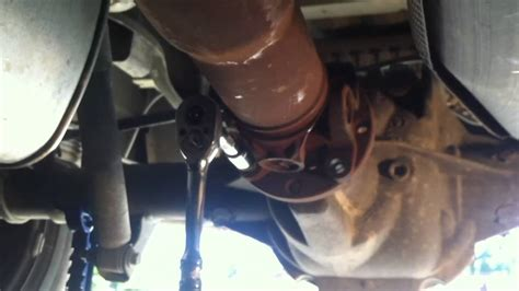 ford ranger driveshaft removal youtube