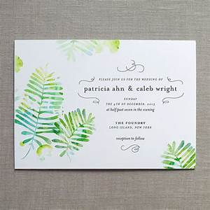 forest ferns watercolor wedding invitation by finedaypress With etsy forest wedding invitations