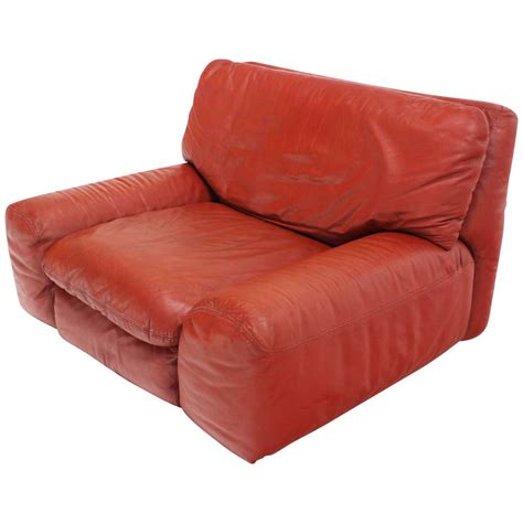 large oversize leather lounge chair by artflex for sale at