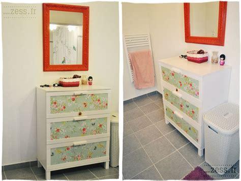 tuto diy papier peint commode armoire retro vintage chambre bebe vintage