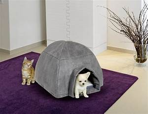 Niche Petit Chien : niche cosy igloo grise pour petits chiens et chats ~ Melissatoandfro.com Idées de Décoration