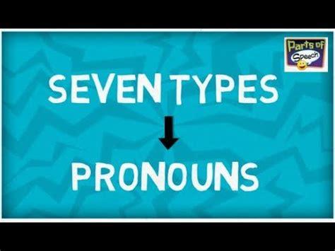 types  pronouns parts  speech youtube