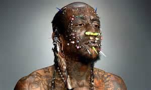 Marcus Boykin Heavily Tattooed Pierced Star