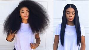 Curly To Straight Hair Tutorial Updated How To Get Rid