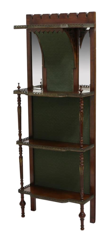 Mirrored Etagere by Mirrored Etagere With Pierced Gallery Special